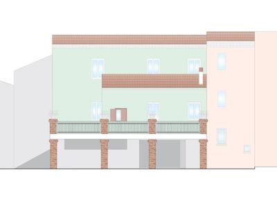 Realizzazione di un garage ad uso terrazzo
